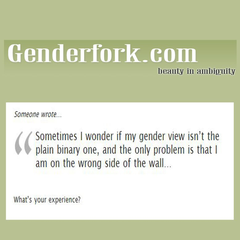 Beauty in Ambiguity: Genderfork.com
