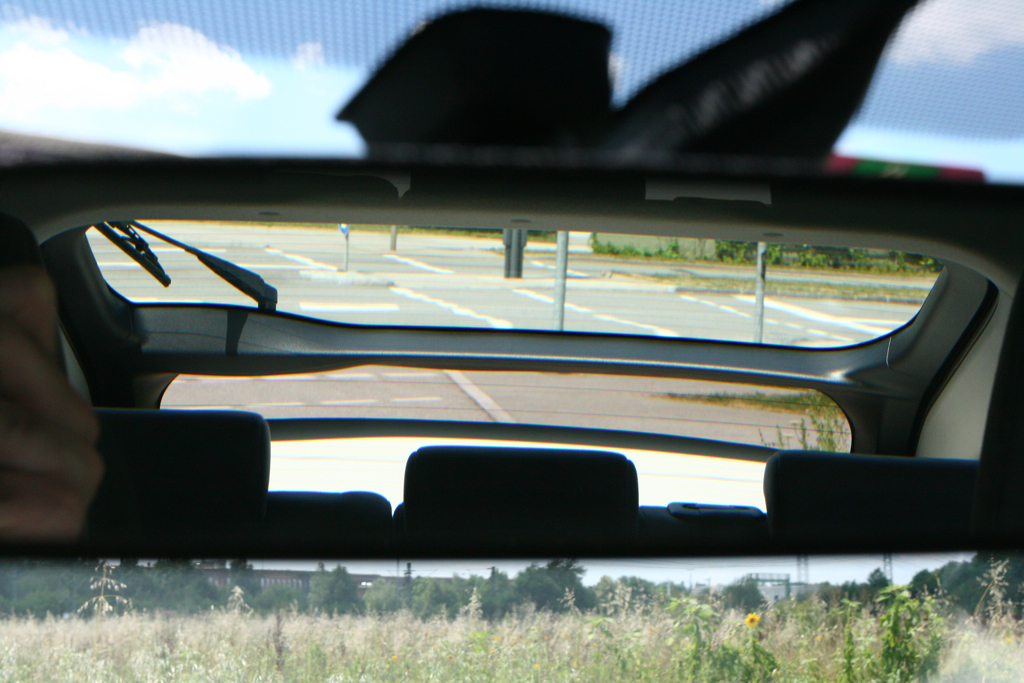 View Through Prius Rear Window