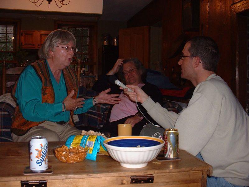 Alison, Miqqi, and Czech Reporter 2004 3