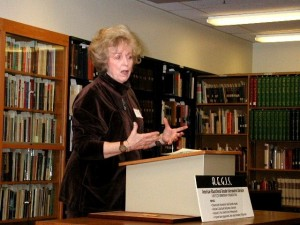 Dr. Sandra Cole Speaking at the Dedication of the NTL&A, U. Michigan, 2004