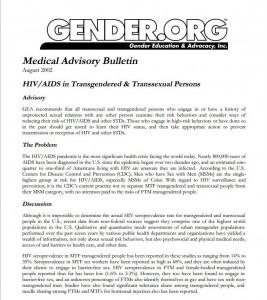 GEA Advisory on AIDS and HIV