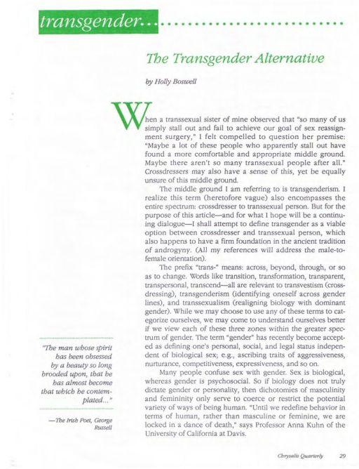 transgender essay papers