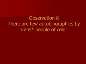 Observation 8