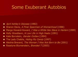Some Exuberant Autobios