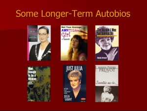 Some Longer-Term Autobios