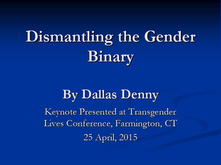 gender as a binary construction essay The social construction of gender is a notion in feminism and sociology about the operation of gender and gender differences in societies according to this view, society and culture create gender roles , and these roles are prescribed as ideal or appropriate behavior for a person of that specific sex.